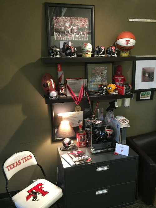 Tom's 'texas tech shrine'