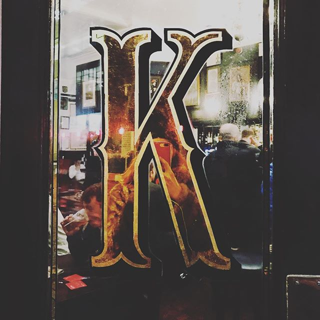 """K"" is for kindness • • • #weareagentk #London #behindthescenes #photography #photographer #londonphotographer #soho #creative #industrial #londonlife #bestoftheday #freelance #socialmedia #womenintech #womenindigital #inspiration #design #typography #lettering #type #font #signwriting #abmlifeiscolourful #gold #londonpubs #communityfirst #kindness"