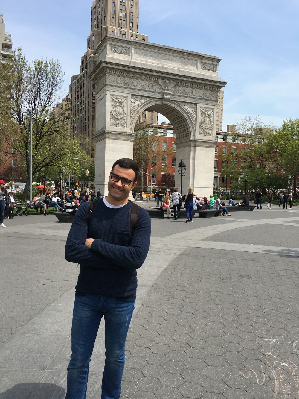 Hanging out in Washington Square Park