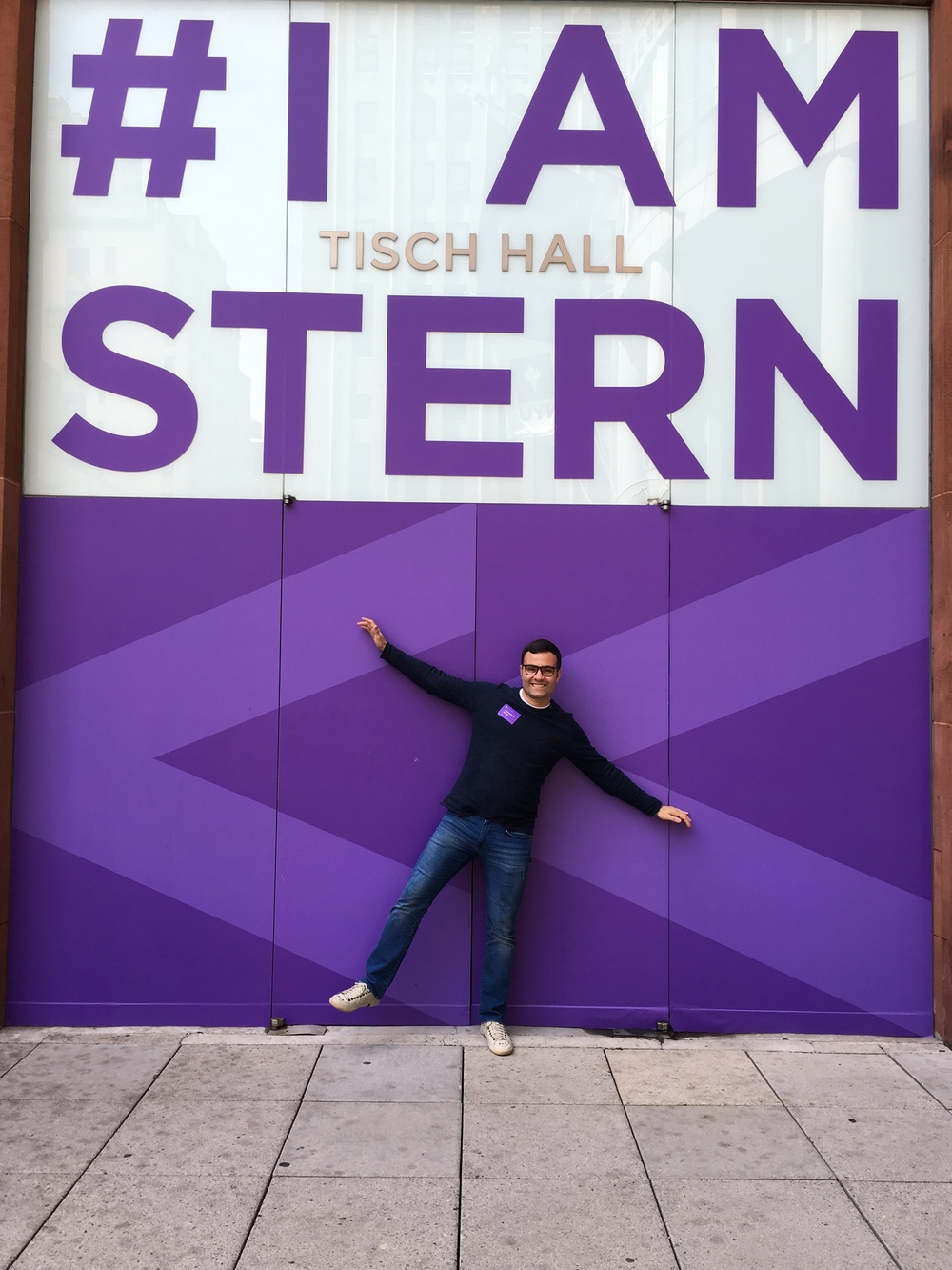 In front of Tisch Hall