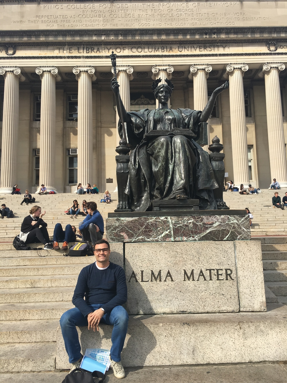 Murilo in front of Low Memorial Library