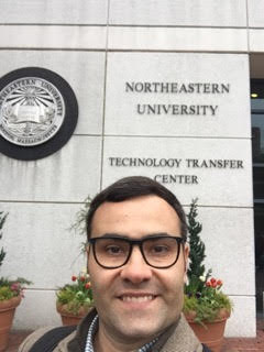 Murilo in front of the Technology Transfer Center