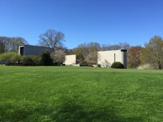 Pictured above are The Brandeis Chapel, which are 3 buildings representing Judaism, Catholicism and Protestantism. The chapels are designed so that none casts its shadow on another!