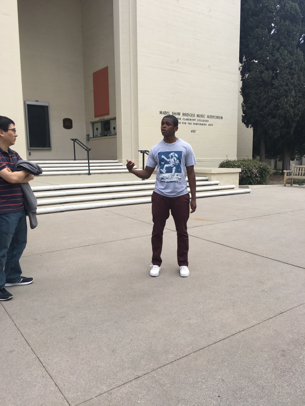 Our tour guide, a freshman at Pomona College