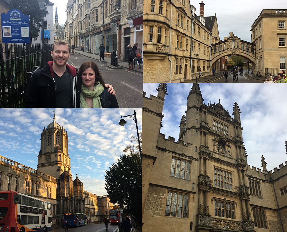Adam and Helen tour Oxford together