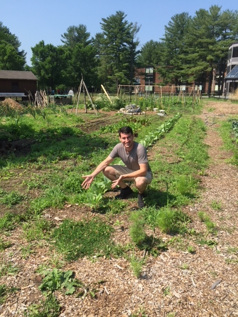 Eli shows us the Skidmore Community Garden