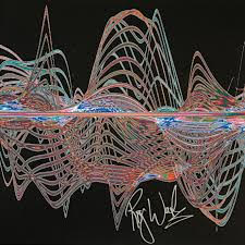"Sound waves from Pink Floyd's ""The Wall"""