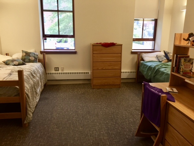 A dorm room at Amherst
