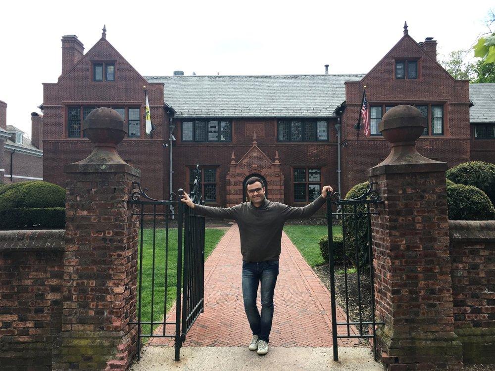 Murilo visits Princeton