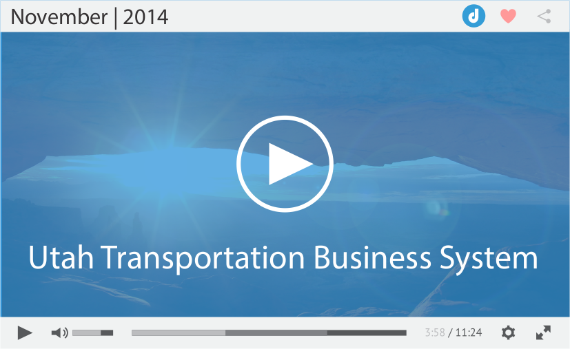 Utah Transportation Integrated Business System