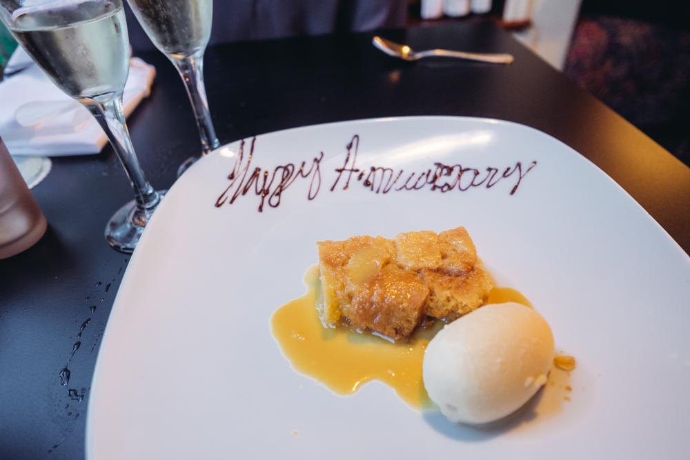They gave uschampagne and dessertto celebrate!