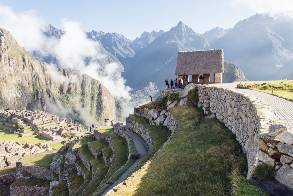 The Watchman's Hut with the perfect view over Machu Picchu