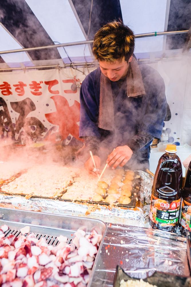 Takoyaki at the Fushimi Inari Taisha Market