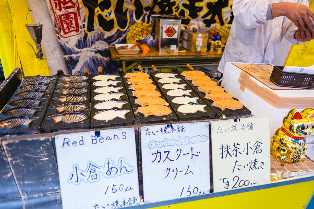 Taiyaki at the Fushimi Inari Taisha Market