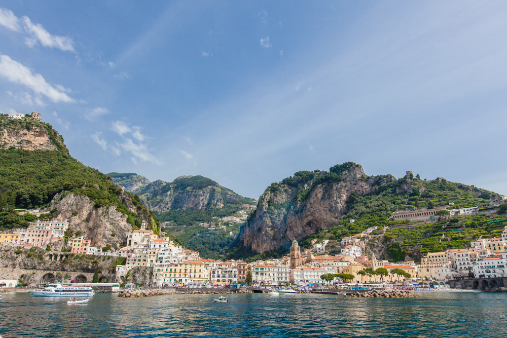 The lovely little town of Amalfi
