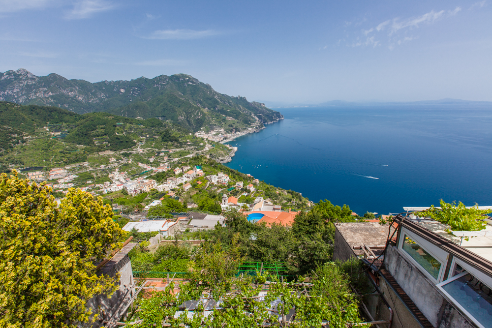 Without a doubt, Ravello has some of the best views on the Amalfi Coast.  It's hard to envision our honeymoon getting any better than this...