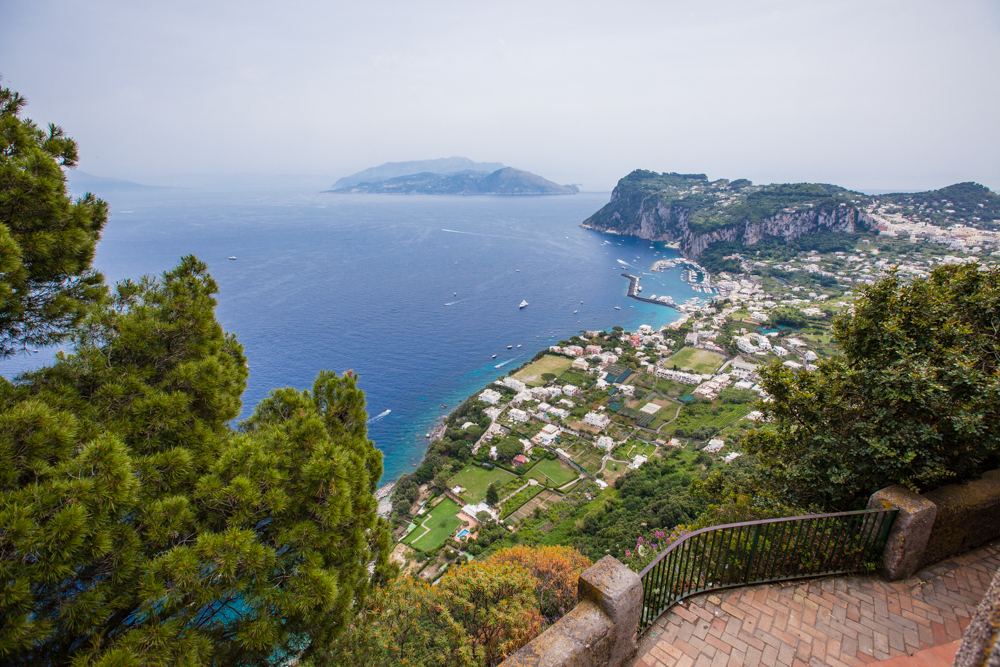 View from Via San Michele, which is a classic Italian garden with a panoramic view of Capri