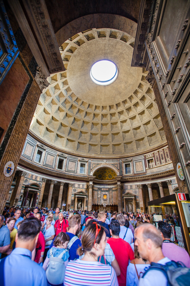 Inside the Pantheon (very crowded, but free)