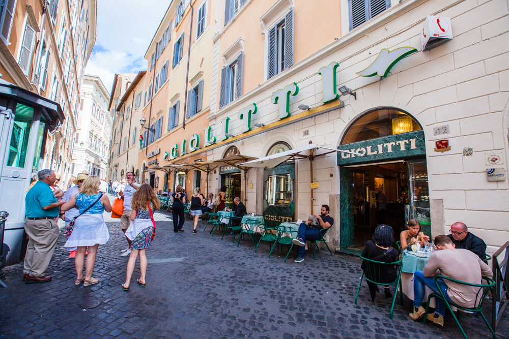 Not part of the Heart of Rome walk, but just a slight detour.  Giolitti's has delicious gelato (large serving sizes at prices that are hard to beat!)