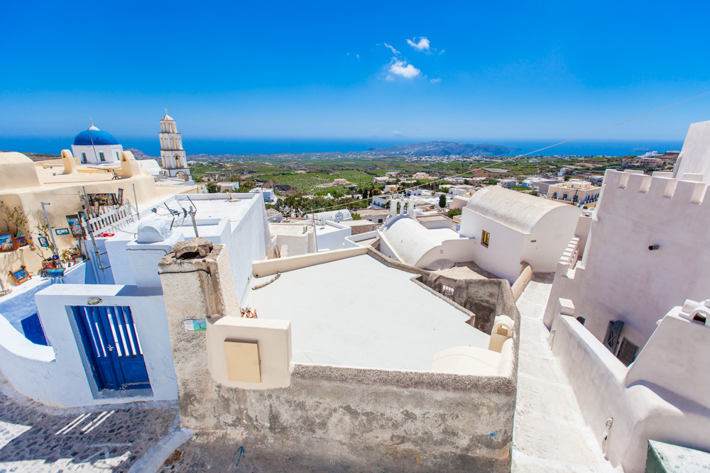 View from the top of Pyrgos