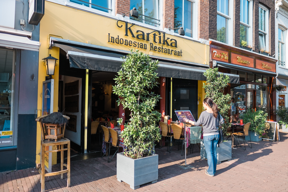 After walking around the market, we headed over the Kartika for dinner.  A friend recommended this restaurant and mentioned that it was one of the best places for Indonesian food in Amsterdam (we would have to agree).