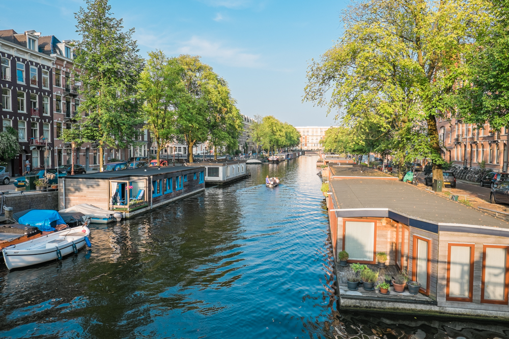 If you're looking for a unique lodging experience, these houseboats are rented out as either bed & breakfasts or by their owners.  They come fully equipped and are conveniently located in the heart of the city.