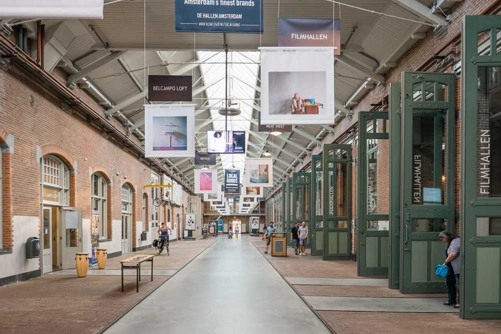 Now, De Hallen is a building with a modern-feel that houses offices and shops for film, arts, fashion, and crafts.