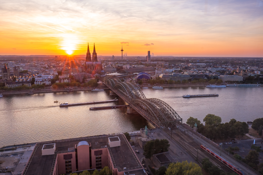 koln triangle cologne germany sunset