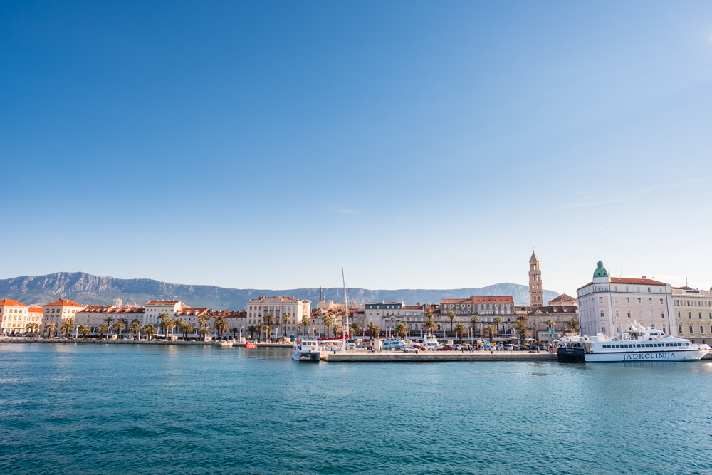 We landed in Split, which is the second largest city in Croatia and a UNESCO World Heritage Site. A view of the city from the ferry.