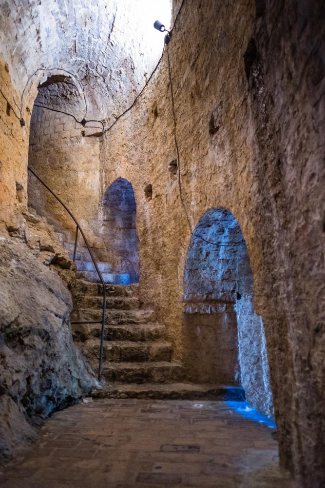 The entrance to the prison cells of Hvar Fort.