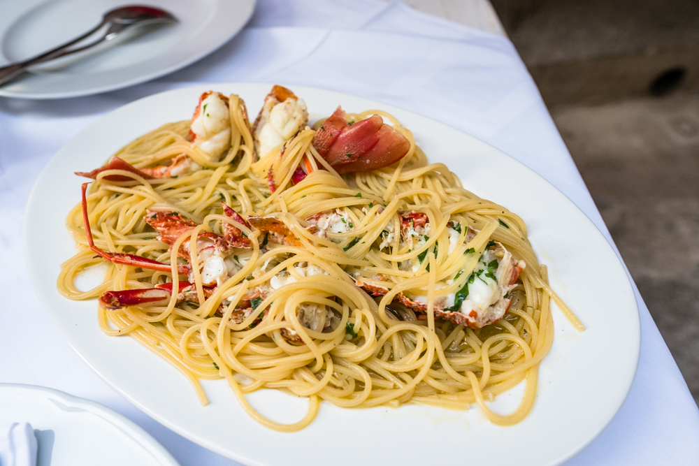 Lobster spaghetti, delicious and fresh!