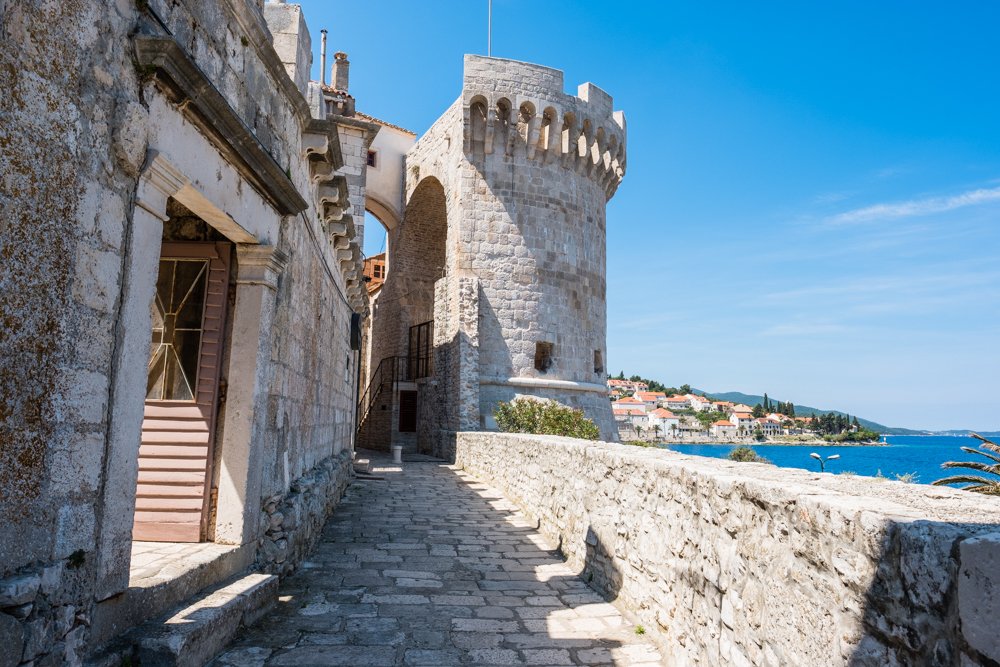 A walk around the outer perimeter of Old Town Korcula.