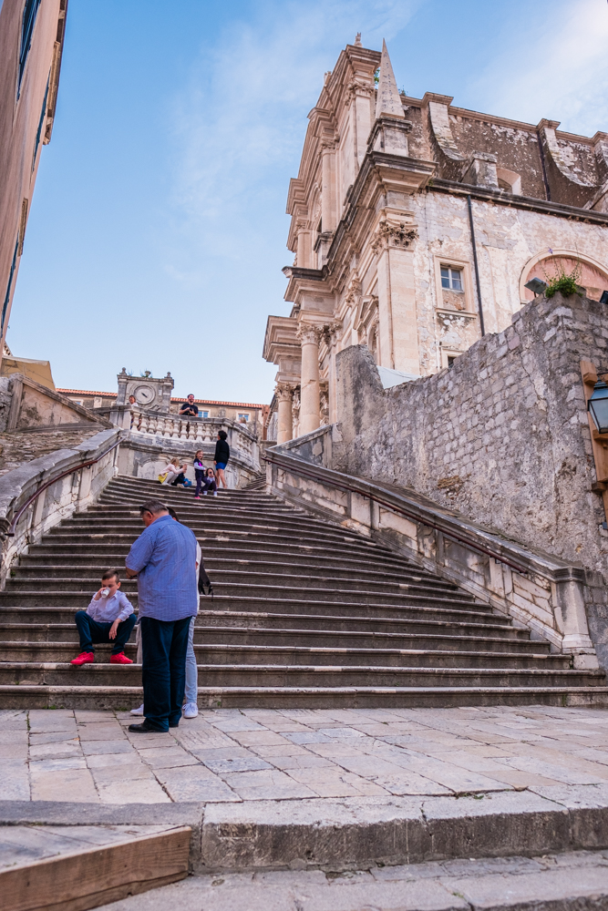 "One of the most iconic steps in Game of Thrones, the Jesuit Stairs. You all know what was filmed here, the ""Walk of Shame."""