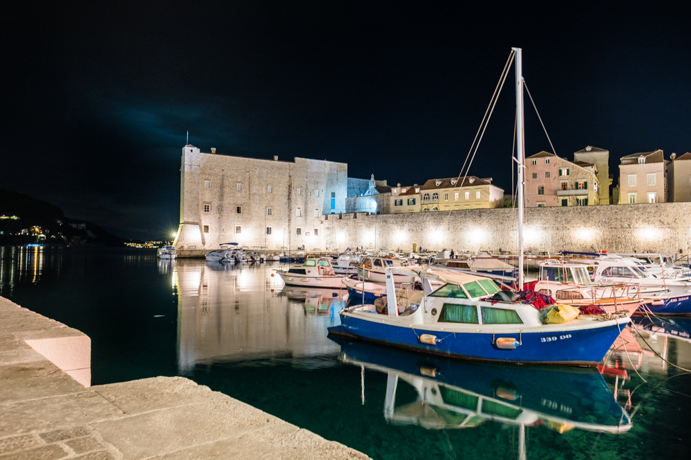 The port of Old Town Dubrovnik