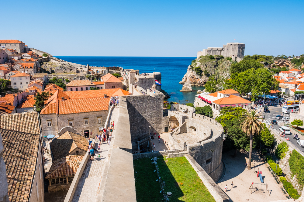 old town dubrovnik croatia city wall walk