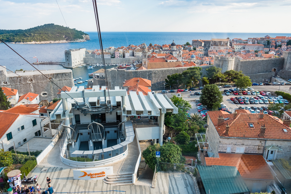 We took the cable car up to the top of Dubrovnik (on Hill Srd) around 6pm. It only takes 4 minutes to get from bottom to top, which is much faster than what it took when it was first constructed in 1969.