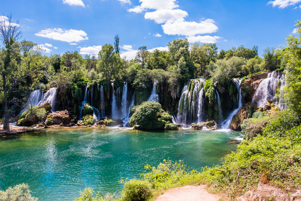 Kravice Waterfalls is a popular place to swim and picnic in the summertime. It's also a beautiful place to visit, year-round.