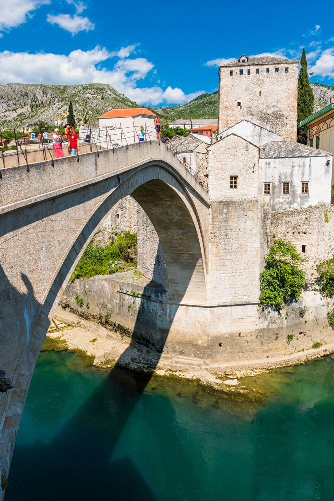 This is was Mostar is known for, the Stari Most (Old Bridge). Mostar was named after the bridge keepers (mostari) who guarded the Old Bridge in medieval times. The bridge stood for over 400 years before it was destroyed in the war. It was rebuilt and reopened in 2004.
