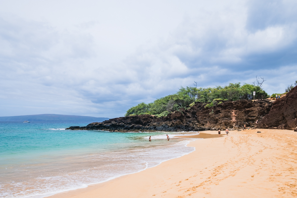 Makena Beach- If you take the short hike up this lava outcropping, you'll stumble upon Little Beach.