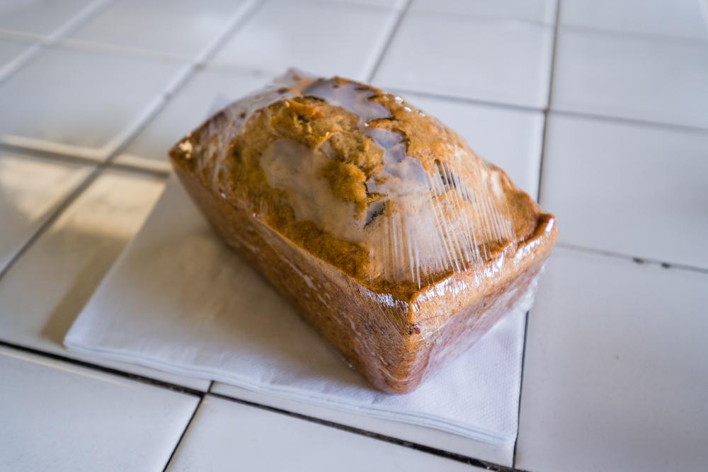 Warm, delicious banana bread