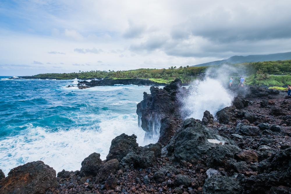 waianapanapa state park blowhole maui hawaii