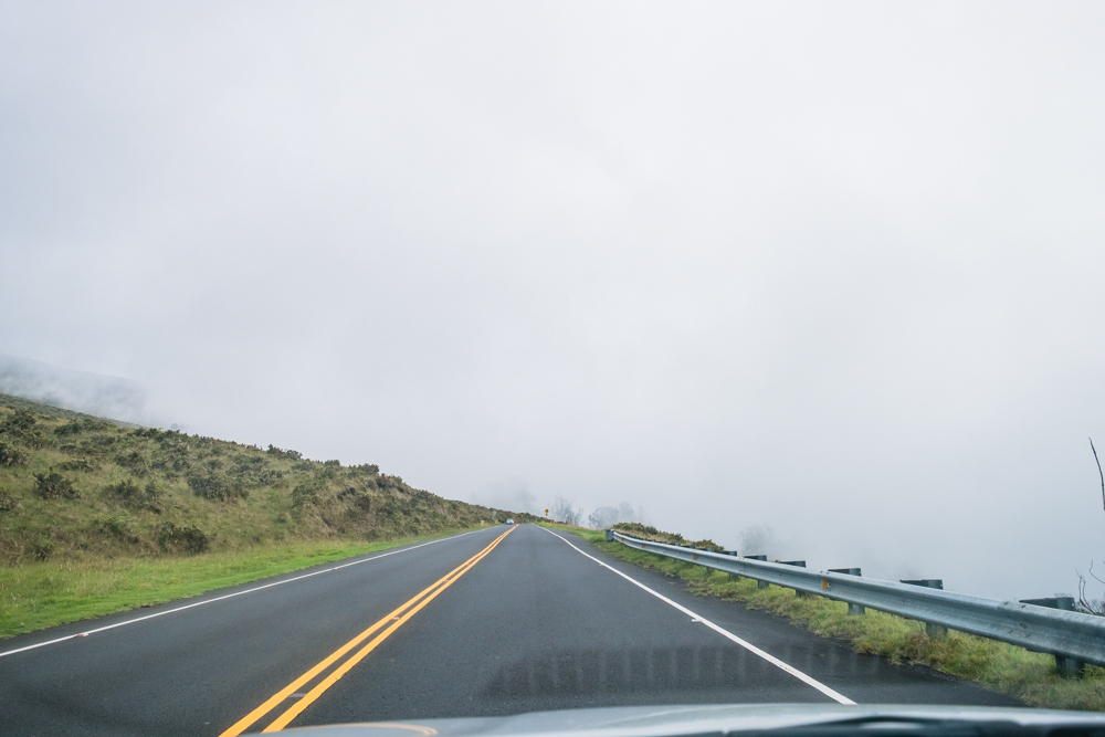 Not only will you be driving through the clouds. Eventually, you will end up looking over the tops of them.