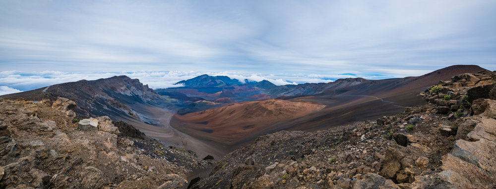 haleakala crater maui hawaii panoramic