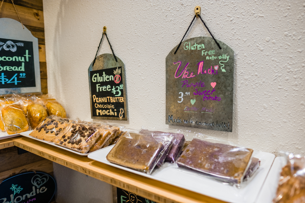 They have gluten-free options, too. The Ube Mochi was delicious!