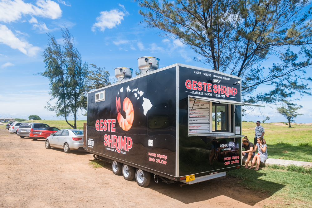 geste shrimp truck maui hawaii