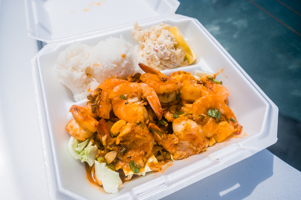 Spicy Pineapple Shrimp Plate