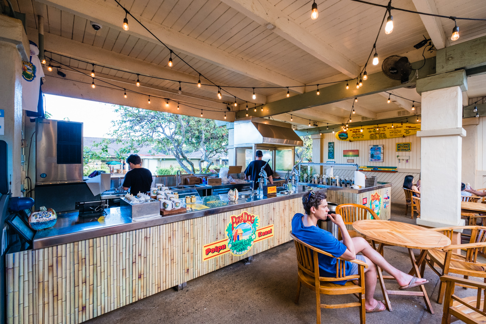 If you're in the Poipu area, you should definitely check out Puka Dog for their Hawaiian-style hot dogs. They were named by the Travel Channel as one of the Top Ten Hot Dog Stands in America.