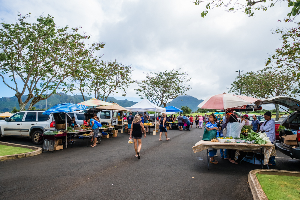 This Farmer's Market is held year-round every Monday in the parking lot of the Kukui Grove Shopping Center in Lihue.