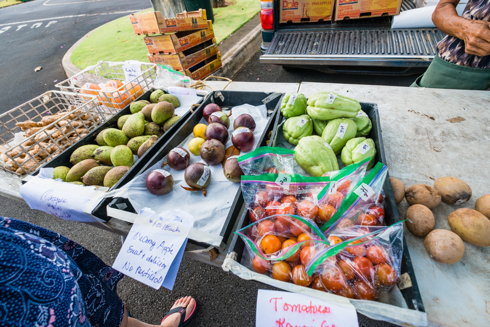 Hawaiian Farmers Markets are the best place to buy exotic fruits, which is something we don't see a lot of in our local grocery stores.
