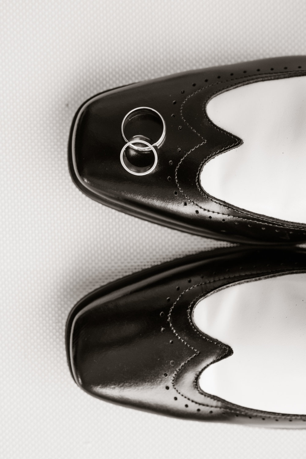 Black and White Oxfords for the Groom
